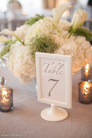 Green and White Wedding Floral Centerpiece